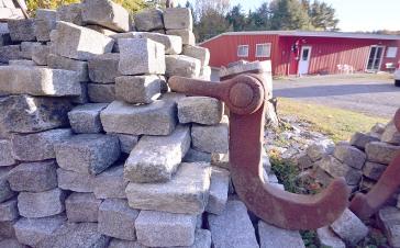 granite blocks outside