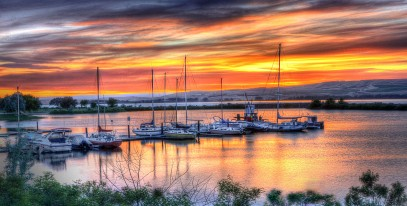 boardman yacht club sunset