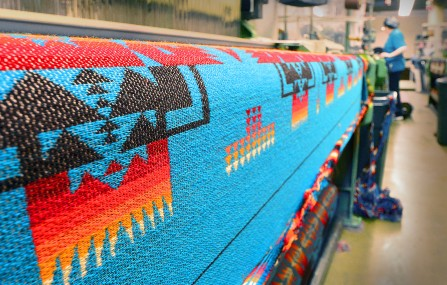 Pendleton quilt on roll