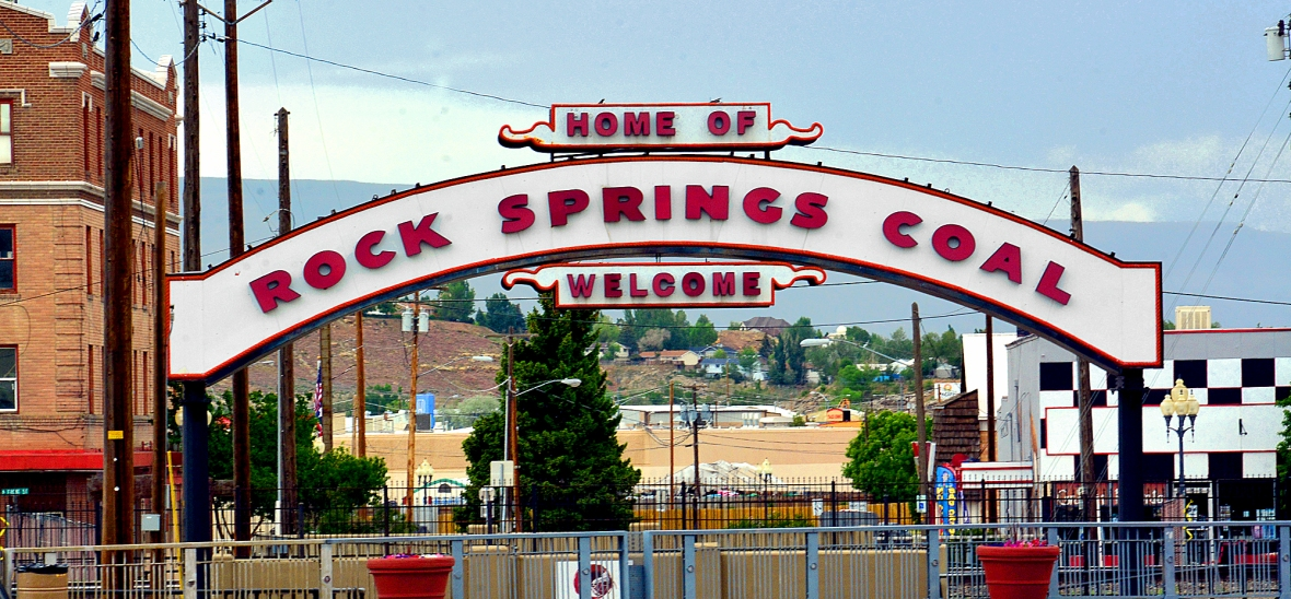 rock springs coal sign